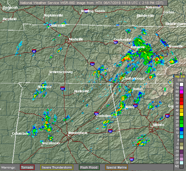 Interactive Hail Maps - Hail Map for Pikeville, TN