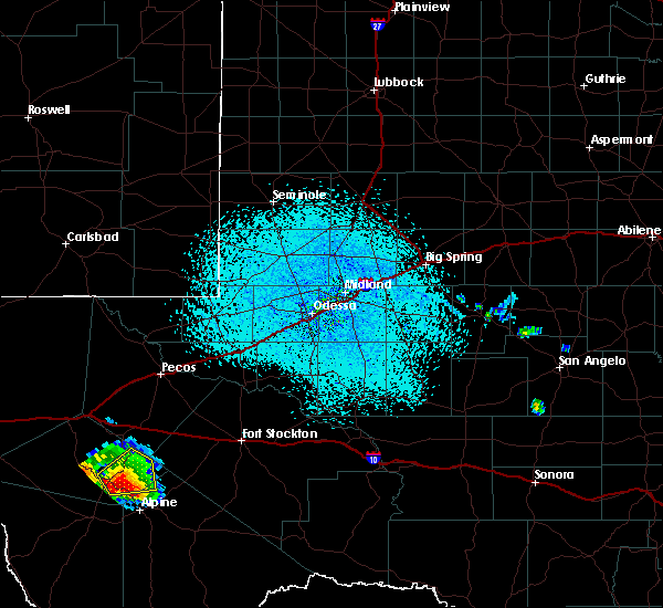 Radar Image for Severe Thunderstorms near Fort Davis, TX at 6/17/2019 3:17 PM CDT