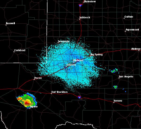 Radar Image for Severe Thunderstorms near Fort Davis, TX at 6/17/2019 3:29 PM CDT