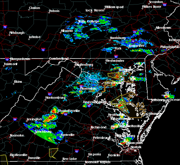Radar Image for Severe Thunderstorms near St. Leonard, MD at 6/17/2019 4:56 PM EDT