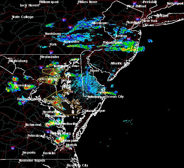 Radar Image for Severe Thunderstorms near Lexington Park, MD at 6/17/2019 5:00 PM EDT