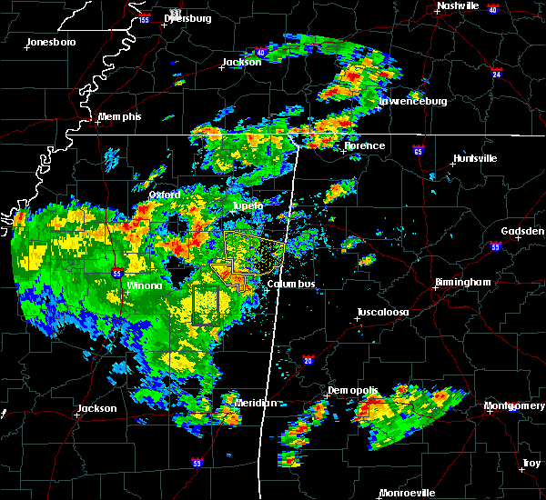 Radar Image for Severe Thunderstorms near Hamilton, MS at 6/17/2019 5:34 PM CDT
