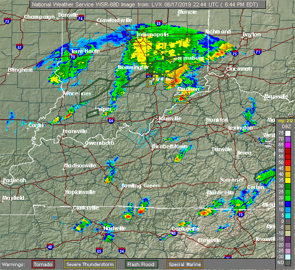 Radar Image for Severe Thunderstorms near Ghent, KY at 6/17/2019 6:49 PM EDT