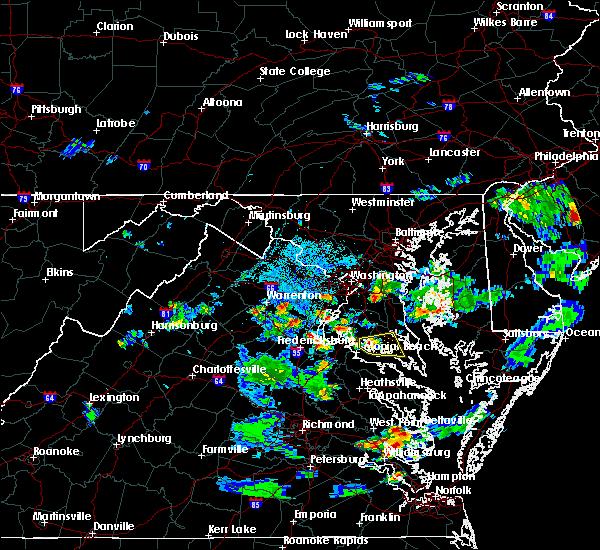 Radar Image for Severe Thunderstorms near Mechanicsville, MD at 6/17/2019 7:10 PM EDT