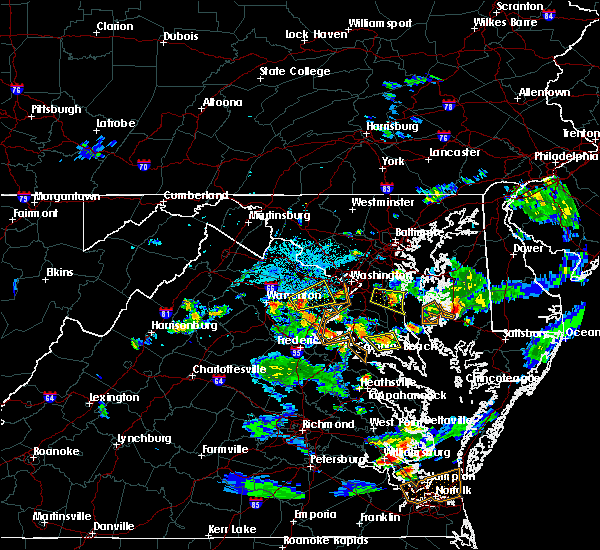 Radar Image for Severe Thunderstorms near Mechanicsville, MD at 6/17/2019 7:29 PM EDT