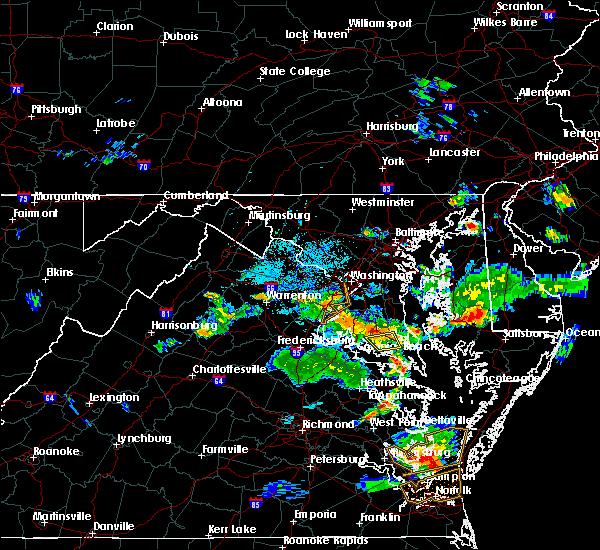 Radar Image for Severe Thunderstorms near Mechanicsville, MD at 6/17/2019 7:59 PM EDT