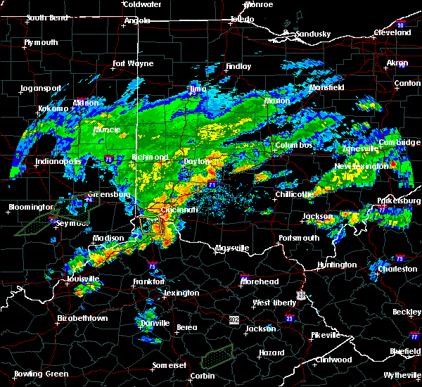Radar Image for Severe Thunderstorms near Cincinnati, OH at 6/17/2019 8:13 PM EDT