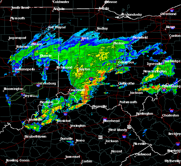 Radar Image for Severe Thunderstorms near Mount Orab, OH at 6/17/2019 8:47 PM EDT