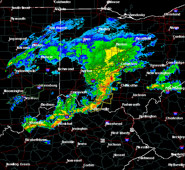 Radar Image for Severe Thunderstorms near Winchester, OH at 6/17/2019 9:28 PM EDT