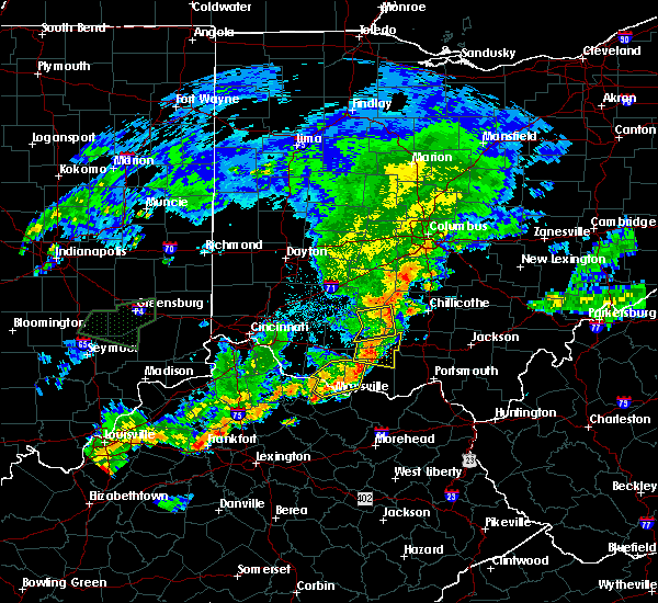 Radar Image for Severe Thunderstorms near West Union, OH at 6/17/2019 9:39 PM EDT