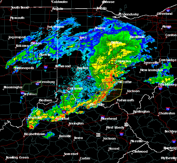 Radar Image for Severe Thunderstorms near West Union, OH at 6/17/2019 9:46 PM EDT
