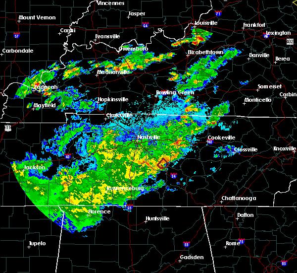 Radar Image for Severe Thunderstorms near Murfreesboro, TN at 6/17/2019 8:46 PM CDT