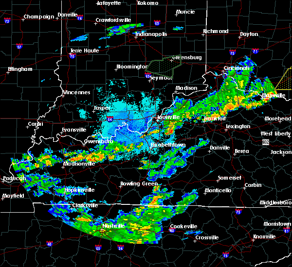 Radar Image for Severe Thunderstorms near Taylorsville, KY at 6/17/2019 10:01 PM EDT