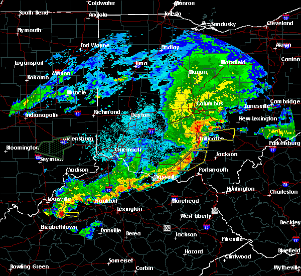 Radar Image for Severe Thunderstorms near Otway, OH at 6/17/2019 10:08 PM EDT
