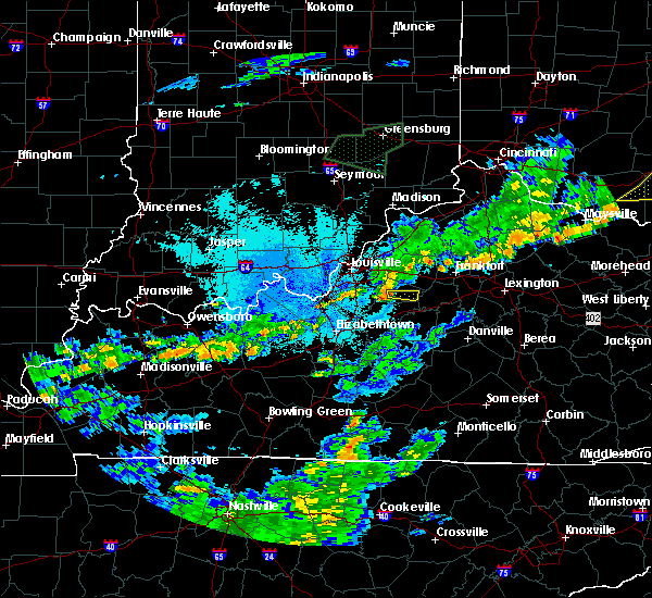 Radar Image for Severe Thunderstorms near Taylorsville, KY at 6/17/2019 10:09 PM EDT