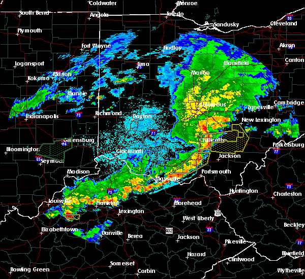 Radar Image for Severe Thunderstorms near Logan, OH at 6/17/2019 10:17 PM EDT