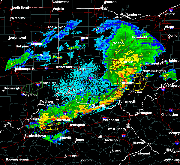 Radar Image for Severe Thunderstorms near Otway, OH at 6/17/2019 10:23 PM EDT