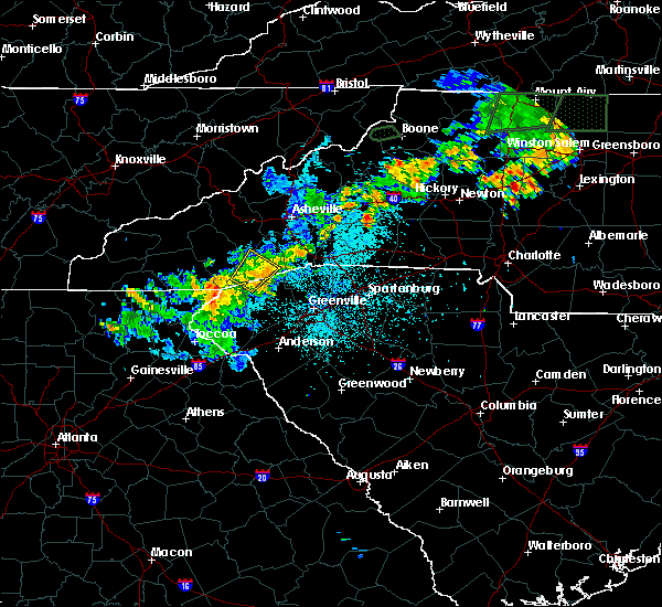 Radar Image for Severe Thunderstorms near Rosman, NC at 6/17/2019 10:26 PM EDT