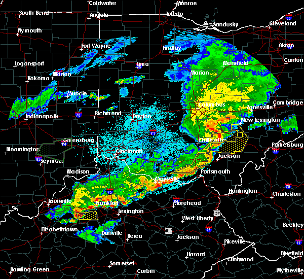 Radar Image for Severe Thunderstorms near Logan, OH at 6/17/2019 10:32 PM EDT