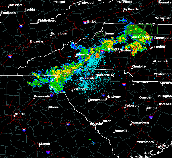Radar Image for Severe Thunderstorms near Rosman, NC at 6/17/2019 10:38 PM EDT