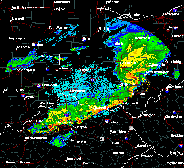 Radar Image for Severe Thunderstorms near Albany, OH at 6/17/2019 10:42 PM EDT