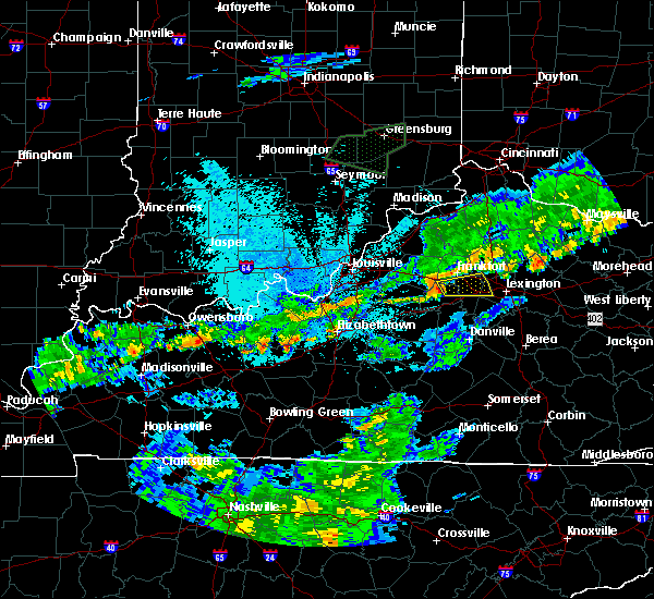 Radar Image for Severe Thunderstorms near Midway, KY at 6/17/2019 10:47 PM EDT