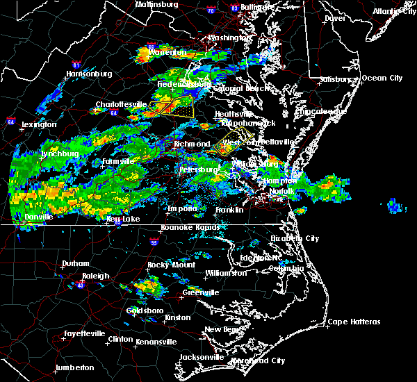 Radar Image for Severe Thunderstorms near West Point, VA at 6/18/2019 5:50 PM EDT