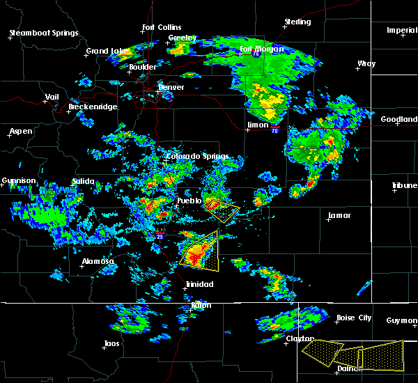 Radar Image for Severe Thunderstorms near Fowler, CO at 6/18/2019 4:06 PM MDT
