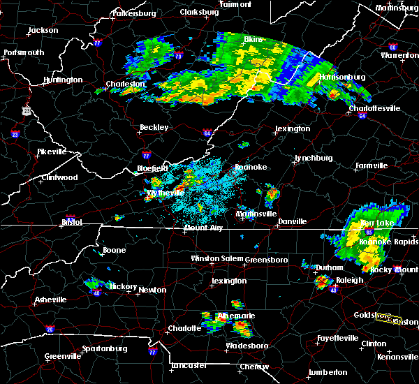 Radar Image for Severe Thunderstorms near Hiwassee, VA at 6/17/2015 9:59 PM EDT