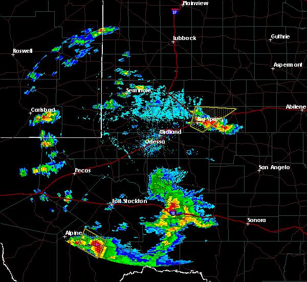 Radar Image for Severe Thunderstorms near Marathon, TX at 6/18/2019 6:15 PM CDT