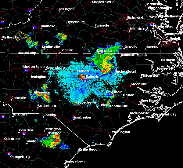 Radar Image for Severe Thunderstorms near Apex, NC at 6/17/2015 10:15 PM EDT