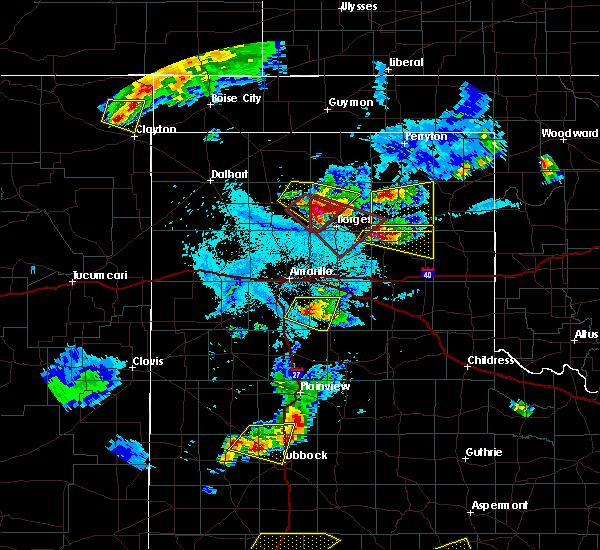Radar Image for Severe Thunderstorms near Lefors, TX at 6/18/2019 8:14 PM CDT