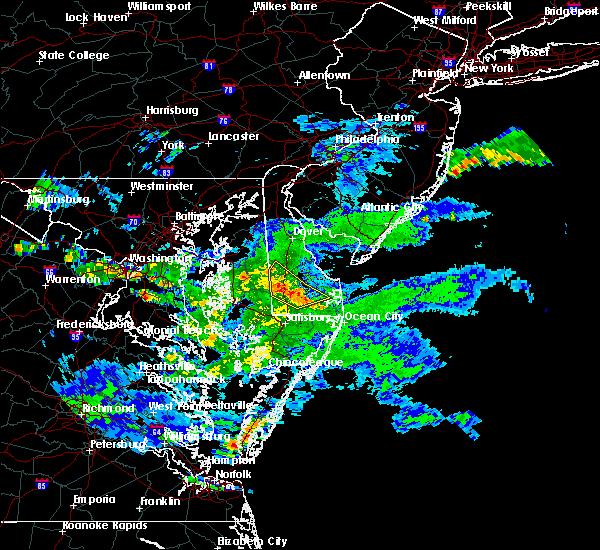 Radar Image for Severe Thunderstorms near Laurel, DE at 6/18/2019 9:16 PM EDT