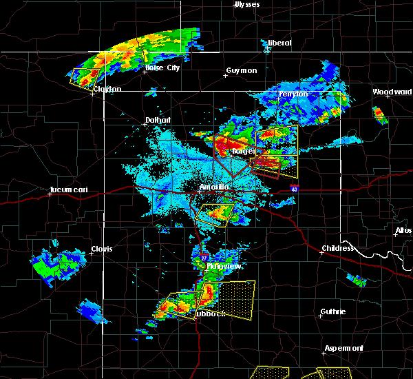 Radar Image for Severe Thunderstorms near Lefors, TX at 6/18/2019 8:21 PM CDT