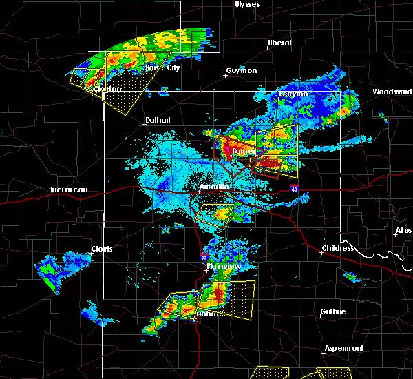 Radar Image for Severe Thunderstorms near Boise City, OK at 6/18/2019 8:30 PM CDT