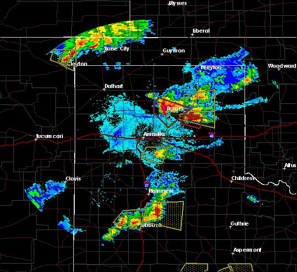 Radar Image for Severe Thunderstorms near Lefors, TX at 6/18/2019 8:30 PM CDT