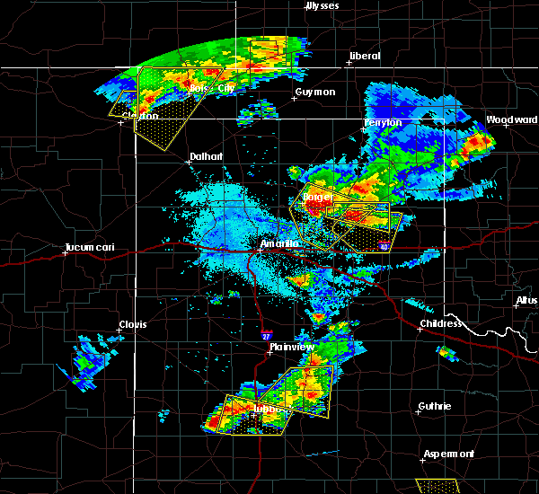 Radar Image for Severe Thunderstorms near Boise City, OK at 6/18/2019 8:49 PM CDT