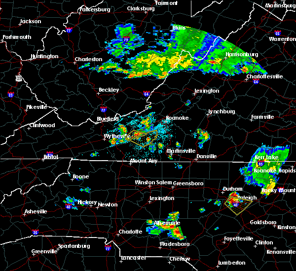 Radar Image for Severe Thunderstorms near Radford, VA at 6/17/2015 10:29 PM EDT