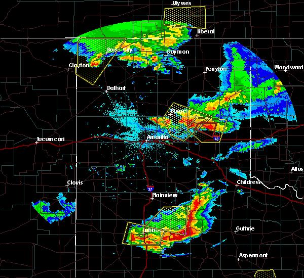 Radar Image for Severe Thunderstorms near Lefors, TX at 6/18/2019 9:15 PM CDT