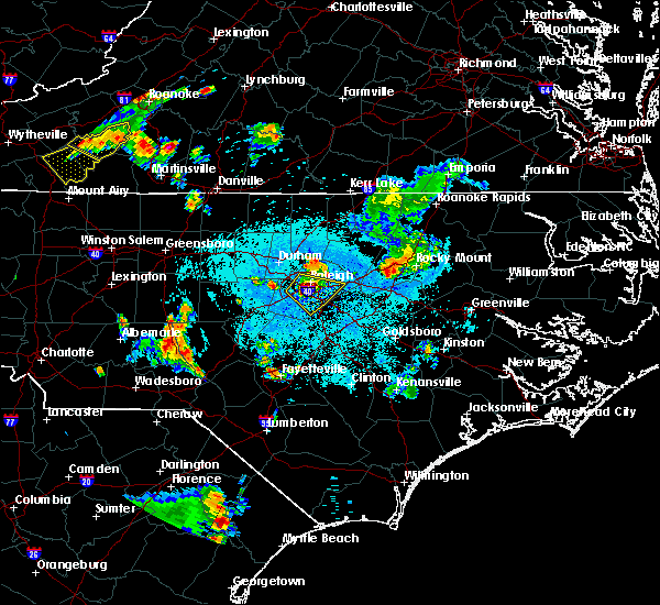 Radar Image for Severe Thunderstorms near Apex, NC at 6/17/2015 10:49 PM EDT