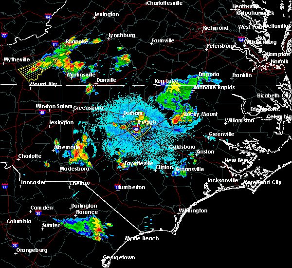 Radar Image for Severe Thunderstorms near Apex, NC at 6/17/2015 11:01 PM EDT