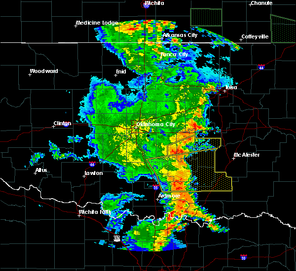 Radar Image for Severe Thunderstorms near Allen, OK at 6/19/2019 2:31 AM CDT