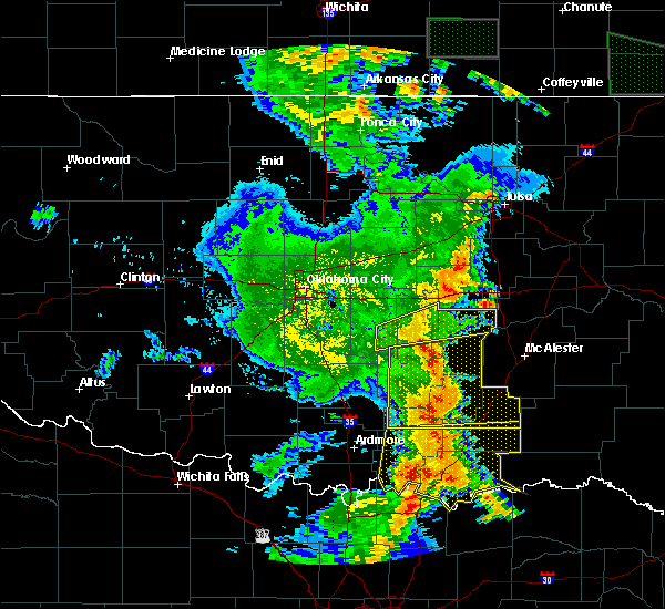 Radar Image for Severe Thunderstorms near Allen, OK at 6/19/2019 2:46 AM CDT