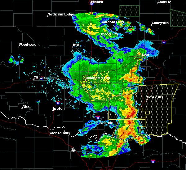 Radar Image for Severe Thunderstorms near Allen, OK at 6/19/2019 3:02 AM CDT