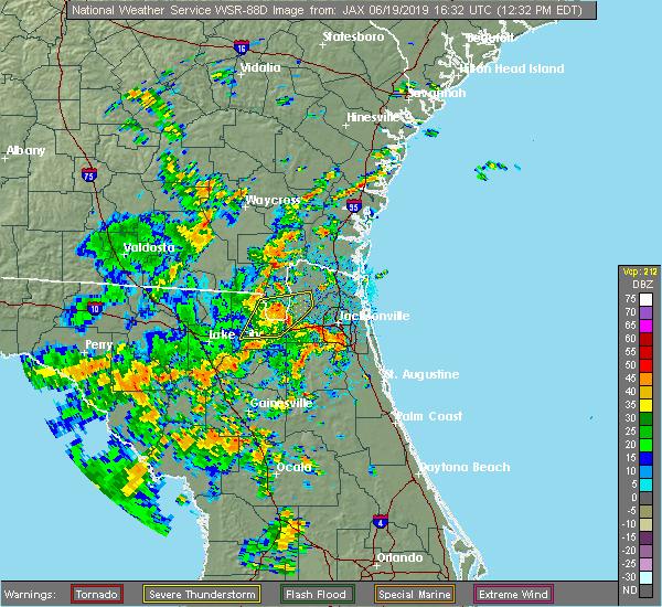 Radar Image for Severe Thunderstorms near Nassau Village-Ratliff, FL at 6/19/2019 12:35 PM EDT