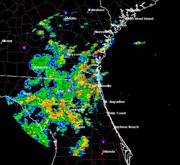 Radar Image for Severe Thunderstorms near Jacksonville, FL at 6/19/2019 12:57 PM EDT