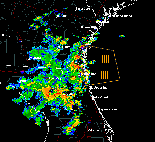 Radar Image for Severe Thunderstorms near Yulee, FL at 6/19/2019 1:18 PM EDT