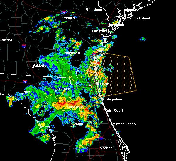 Radar Image for Severe Thunderstorms near Yulee, FL at 6/19/2019 1:37 PM EDT