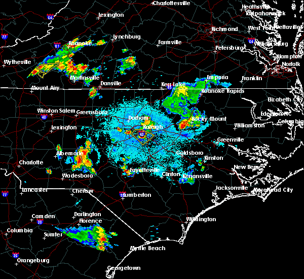 Radar Image for Severe Thunderstorms near Clayton, NC at 6/17/2015 11:18 PM EDT