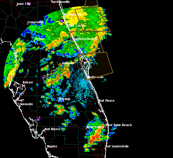 Radar Image for Severe Thunderstorms near Buenaventura Lakes, FL at 6/19/2019 3:56 PM EDT